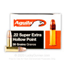 Bulk 22 LR Ammo For Sale - 38 Grain CPHP Ammunition in Stock by Aguila - 5000 Rounds