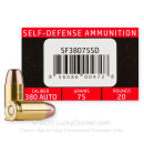 Premium 380 Auto Ammo For Sale - 75 Grain Frangible HP Ammunition in Stock by SinterFire Special Duty - 20 Rounds