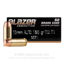 Bulk 10mm Auto Ammo For Sale - 180 Grain FMJ Ammunition in Stock by Blazer Brass - 1000 Rounds