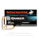 Premium 40 S&W Ammo For Sale - 165 Grain JHP Ammunition in Stock by Winchester Ranger T-Series - 50 Rounds - LE Trade-In