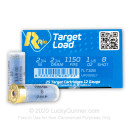 """Cheap 12 Gauge Ammo For Sale - 2-3/4"""" 1-1/8oz. #8 Shot Ammunition in Stock by Rio Target Load Trap - 25 Rounds"""