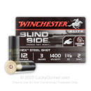 "Premium 12 Gauge Ammo - Winchester Blind Side Elite Waterfowl 3"" #2 Hex Steel Shot - 25 Rounds"