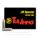 Cheap 38 Special Ammo For Sale - 130 Grain FMJ Ammunition in Stock by Tula Ammo - 50 Rounds
