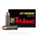 Bulk 357 Mag Steel Cased Ammo For Sale - 158 gr FMJ Tula  Ammunition In Stock - 1000 Rounds
