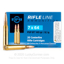 Cheap 7x64mm Brenneke Ammo For Sale - 140 Grain PSPBT Ammunition in Stock by Prvi Partizan - 20 Rounds
