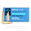 Cheap 300 AAC Blackout Ammo For Sale -  125 Grain HPBT Ammunition in Stock by Prvi Partizan  - 20 Rounds