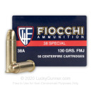 38 Special Ammo For Sale - 130 gr FMJ Fiocchi Ammunition In Stock