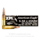Cheap 5.56x45 Ammo For Sale - 55 Grain FMJBT XM193 Ammunition in Stock by Federal American Eagle - 20 Rounds