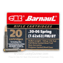 Cheap 30-06 Ammo For Sale - 168 Grain FMJBT Ammunition in Stock by Barnaul - 20 Rounds