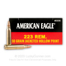 Cheap 223 Rem Ammo For Sale - 50 gr JHP Ammunition In Stock by Federal American Eagle - 20 Rounds