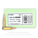 Cheap 7.62x51 Ammo For Sale - 200 Grain FMJ Ammunition in Stock by Sellier & Bellot Subsonic - 20 Rounds