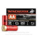 """Cheap 12 Gauge Ammo For Sale - 2-3/4"""" 1oz. #7.5 Shot Ammunition in Stock by Winchester AA Super Sport - 25 Rounds"""