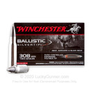 Premium 308 Win Polymer Tip Ammo For Sale - 168 gr Ballistic Silvertip Ammunition In Stock by Winchester - 20 Rounds