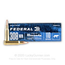 Premium 308 Ammo For Sale - 110 Grain V-MAX Ammunition in Stock by Federal Varmint & Predator - 20 Rounds