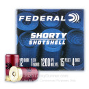 "Premium 12 Gauge Ammo For Sale - 1-3/4"" 15 Pellet #4 Buckshot Ammunition in Stock by Federal Shorty Shotshell - 10 Rounds"