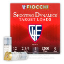 "Cheap 12 Gauge Ammo For Sale - 2-3/4"" 1oz. #9 Shot Ammunition in Stock by Fiocchi - 25 Rounds"