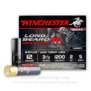 "Premium 12 Gauge Ammo For Sale - 3-1/2"" 2oz. #5 Shot Ammunition in Stock by Winchester Long Beard XR - 25 Rounds"