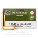 Bulk 5.56x45 Ammo For Sale - 62 Grain FMJ SS109 Ammunition in Stock by Magtech - 1000 Rounds