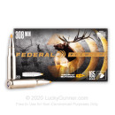 Premium 308 Win 165 grain Trophy Bonded Tip Federal Premium Vital Shok Rifle Ammunition - 20 rounds