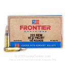 Cheap 223 Rem Ammo For Sale - 55 Grain FMJ Ammunition in Stock by Hornady Frontier - 150 Rounds