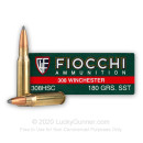 Cheap 308 Win Ammo For Sale - 180 Grain SST Ammunition in Stock by Fiocchi Extrema - 20 Rounds