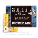 """Cheap 20 Gauge Ammo For Sale - 2-3/4"""" 3/4 oz. #6 Steel Shot Ammunition in Stock by Federal Speed-Shok - 25 Rounds"""