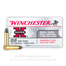 Cheap 22 WMR Ammo For Sale - 45 Grain LHP Ammunition in Stock by Winchester Super-X - 50 Rounds