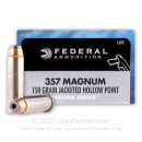 Premium 357 Magnum Personal Defense Ammo For Sale - 158 gr JHP Federal Ammo Online - 20 Rounds