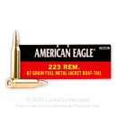 Bulk 223 Rem Ammo For Sale - 62 gr FMJ-BT Ammunition In Stock by Federal American Eagle - 500 Rounds