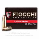 Premium 7.62 Tokarev Ammo For Sale - 85 Grain FMJ Ammunition in Stock by Fiocchi - 50 Rounds