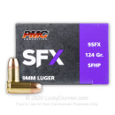 Premium 9mm Ammo For Sale - 124 Grain JHP Ammunition in Stock by PMC SFX - 20 Rounds