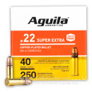 Cheap 22 LR Ammo For Sale - 40 Grain CPRN Ammunition in Stock by Aguila - 250 Rounds
