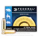 Cheap 41 Magnum Ammo For Sale - 210 gr JHP Federal Ammunition In Stock - 20 Rounds