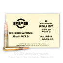 Cheap 50 BMG Ammo For Sale - 625 Grain FMJBT M33 Ammunition in Stock by Prvi Partizan - 5 Rounds