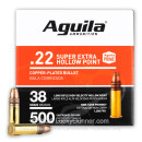 Bulk 22 LR Ammo For Sale - 38 Grain CPHP Ammunition in Stock by Aguila - 500 Rounds