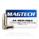 44 Magnum - 240 gr SJSP - Magtech - 50 Rounds