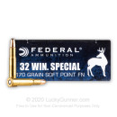 Cheap 32 Winchester Special Ammo For Sale - 170 gr SP Federal Ammo Online - 20 Rounds