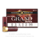 """Premium 12 Gauge Ammo For Sale - 2-3/4"""" 1-1/8oz. #7.5 Shot Ammunition in Stock by Federal Gold Metal Grand Paper - 25 Rounds"""