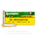 Cheap 35 Remington Ammo For Sale - 200 Grain Soft Point Ammunition in Stock by Remington Core-Lokt - 20 Rounds