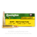 Premium 6mm Remington Ammo For Sale - 100 Grain PSP Ammunition in Stock by Remington Core-Lokt - 20 Rounds