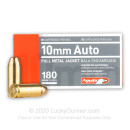 Cheap 10mm Auto Ammo For Sale - 180 Grain FMJ Ammunition in Stock by Aguila - 50 Rounds
