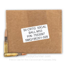 Premium 50 BMG Ammo For Sale - 660 Grain FMJ M33 Ammunition in Stock by Lake City - 50 Rounds Loose