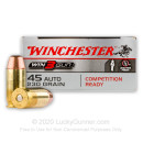 Premium 45 ACP Ammo For Sale - 230 Grain FMJ Ammunition in Stock by WInchester Win3Gun - 50 Rounds