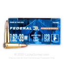 Brass Cased 7.62x39 Ammo Perfect for Hunting In Stock - 123 gr SP - 7.62x39 Ammunition by Federal Power Shok For Sale - 20 Rounds
