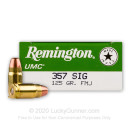 357 Sig Ammo For Sale - 125 gr MC - Reloadable Remington Ammo Online