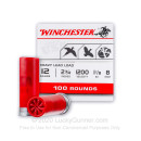 """12 Gauge 2 3/4"""" #8 Heavy Game & Target Ammunition From Winchester USA - 100 Rounds"""