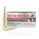 204 Ruger Ammo - Winchester Varmint-X 32gr PT - 20 Rounds