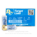 """Cheap 12 Gauge Ammo For Sale - 2-3/4"""" 1oz. #8 Shot Ammunition in Stock by Rio Target Load Trap - 25 Rounds"""