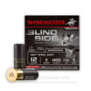 "Premium 12 Gauge Ammo - Winchester Blind Side Elite Waterfowl 3"" #5 Hex Steel Shot - 25 Rounds"