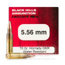 Premium 5.56x45 Ammo For Sale - 70 Grain GMX Ammunition in Stock by Black Hills - 50 Rounds